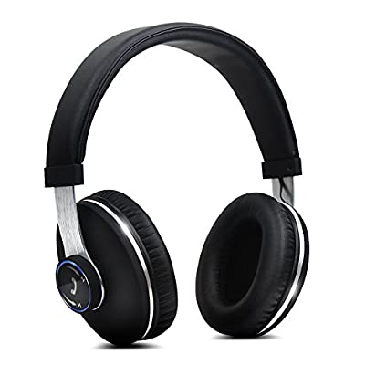 Tauren Wireless Bluetooth 4.0 Over Ear Headphones, Premium Stereo Noise Cancelling Headset with Built-in Microphone, Lightweight Classic Style Deep Bass Headphone, Streaming Music and Hands-free Calling