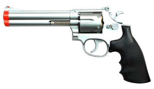 TSD Sports UA934S Airsoft Black Barrel Spring Revolver, 6-Inch