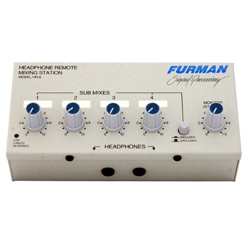 Furman Hr-6 Remote Headphone Mixer Has Four Submixes, Connect To Hds-6, Link Cable And Stand Clamp Included front-182314