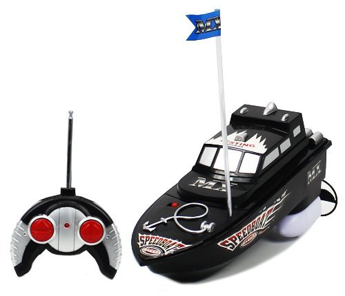 MX Championship Black Stealth Anchor Electric RTR RC Boat Full Function Good Quality Remote Control Boat with Mini Tool Box (fs)