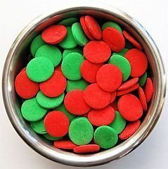 Edible Confetti Sprinkles Cake Cookie Cupcake Quins Christmas Jumbo 8 Ounces