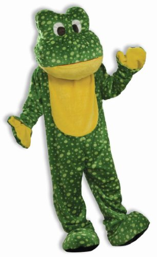 Forum Unisex Frog Mascot Adult Animal Costume Green Standard to 2XL