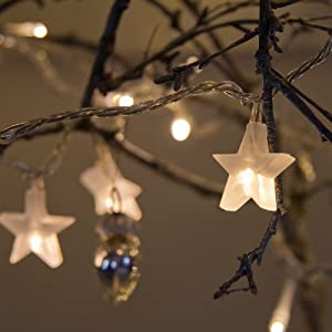 Indoor Star Fairy Lights with 30 Warm White LEDs by Lights4fun