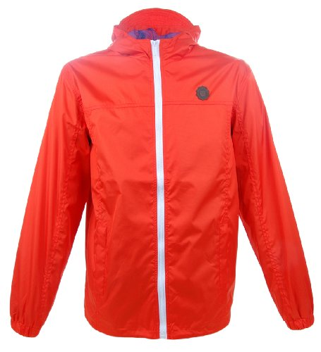 Pride & Glory Men's 'Onsted' Light-Weight Windcheater Jacket Orange L