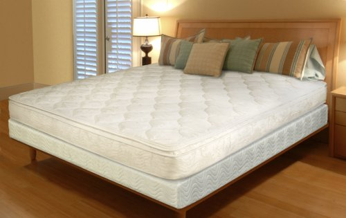 Textrade Queen Inner Spring Pillow Top Mattress in a Box