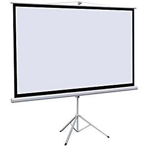 Yaheetech 100 Inch 16:9 Manual Pull Down Projector Screen