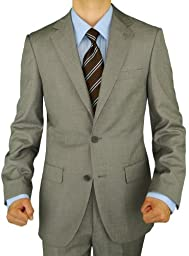 Presidential Giorgio Napoli Men\'s 2 Button Suit Separate Coat Blazer (46 Short US, Light Gray)