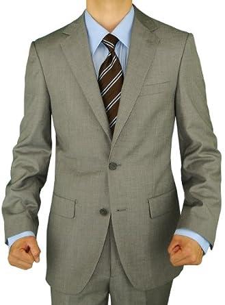 Presidential Giorgio Napoli Men's 2 Button Suit Separate Coat Blazer (36 Short, Light Gray)