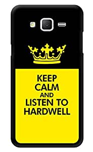 """Humor Gang Keep Calm And Listen To Hardwell Printed Designer Mobile Back Cover For """"Samsung Galaxy Grand 2"""" (3D, Glossy, Premium Quality Snap On Case)"""