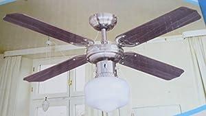 ventilateur de plafond 105cm 110w 4 pales rotative bois lustre plafonnier lampe plafond rotatif. Black Bedroom Furniture Sets. Home Design Ideas