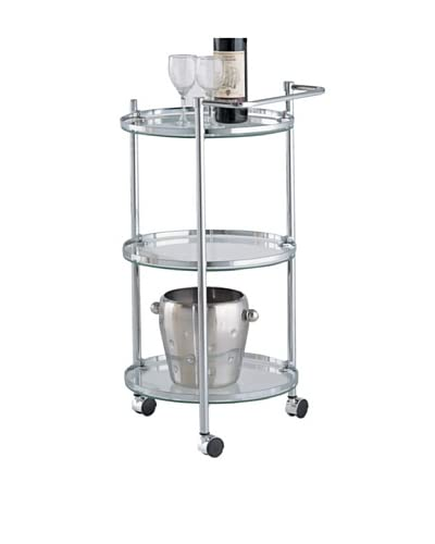 Organize It All Circular Serving Cart