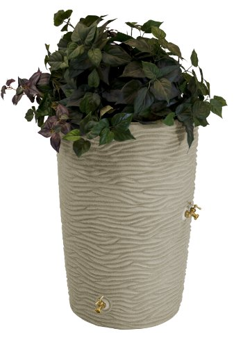 Good-Ideas-IMP-L50-SAN-Impressions-Palm-Rain-Barrel-50-Gallon-Sandstone