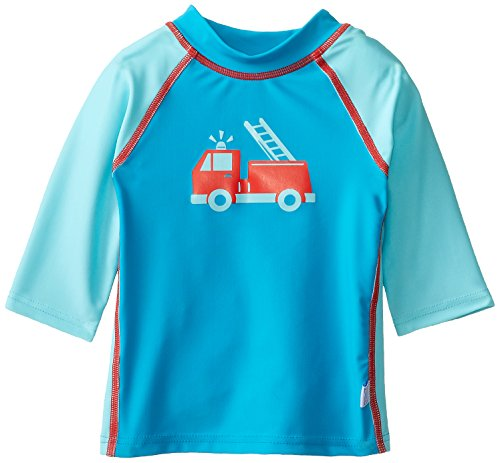 I Play. Baby-Boys Infant 3Qtr Sleeve Rashguard-Mod, Aqua, 12-18 Months back-967933