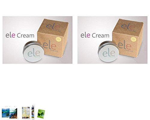 2 Packs Of : Ele Cream Mask Reduces Freckles/Acne Scars/ Pores Brighten&Whiteten Skin 50 G. [Get Free Face Scrubber]