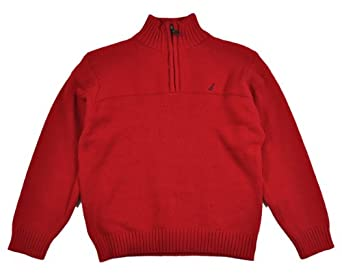 Nautica Boys Assorted Knit Pullover Sweaters (4, Cherry)