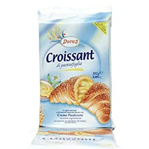 Dora3 Custard Cream Filled Croissants - 8 oz (6 pack) by Dora3