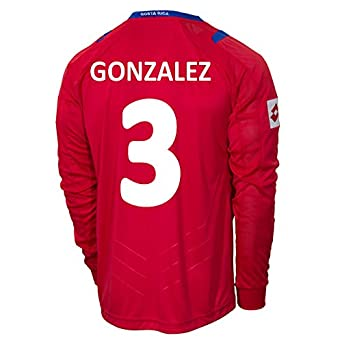 Buy Lotto GONZALEZ #3 Costa Rica Home Jersey World Cup 2014 (Long Sleeve) by Lotto