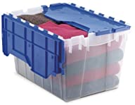 Akro-Mils 66486 CLDBL 12-Gallon Plastic Storage KeepBox with Attached Lid, 21-1/2-Inch by 15-Inch by…