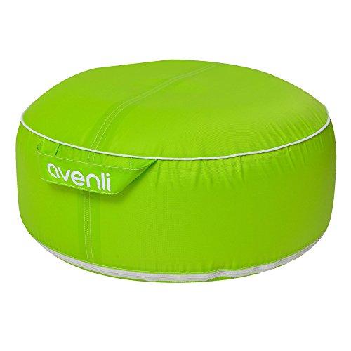 Sitzsack Avenli Garden Pool Pouf II, aufblasbares Design Sitzkissen, wasserfest, UV- und schimmelbeständig, grün