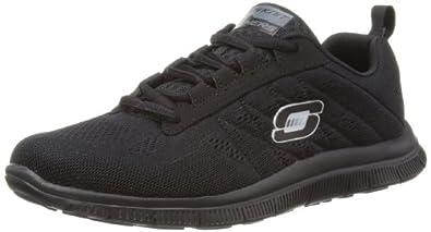 Skechers Flex AppealSweet Spot, Damen Sneakers, Schwarz (BBK), 35 EU