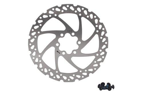 Buy Low Price Kanzo DB-01 Disc Brake Rotor MTB Bike Stainless 160mm Silver w/ Bolts (BKaBrDB01160S)