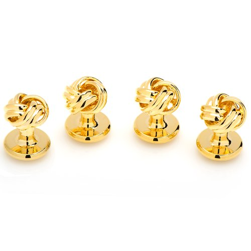 Ox And Bull Mens Plated Gold Knot Studs Only