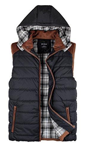 Calliar Men's Fashion Design Hooded Down Vest (4