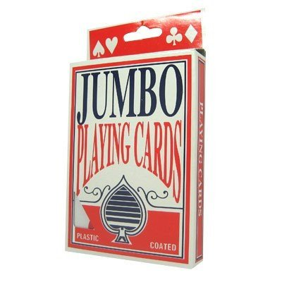 DELUXE JUMBO PLAYING CARDS! Easy to Hold, Easy to Read!