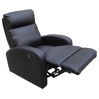 LPD Furniture Dallas Recliner Chair, In Black