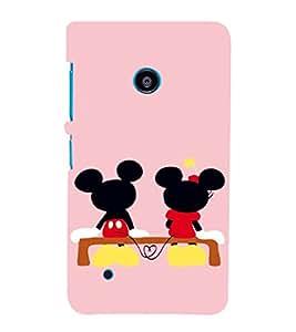 EPICCASE Mini & Mickey Heart Mobile Back Case Cover For Nokia Lumia 530 (Designer Case)