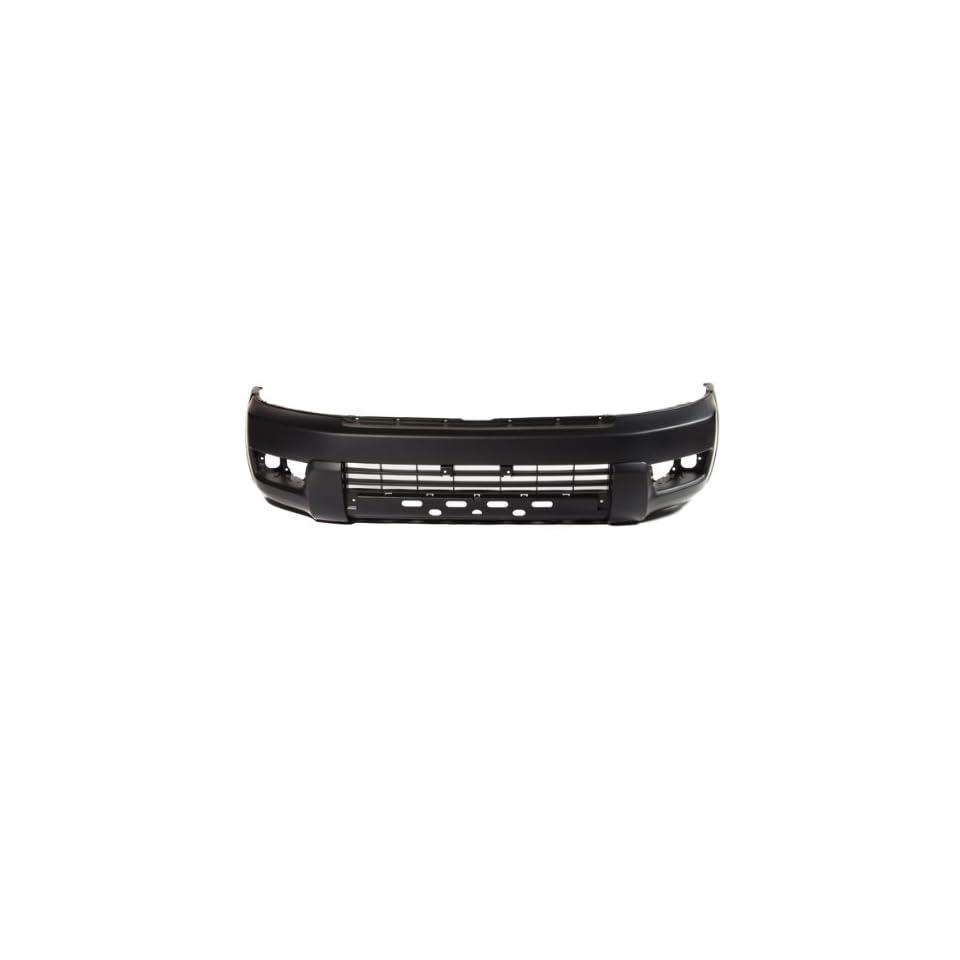 CarPartsDepot, Black Primered Plastic Front Bumper Cover Replacement, 352 441722 10 PM TO1000260 5211935901
