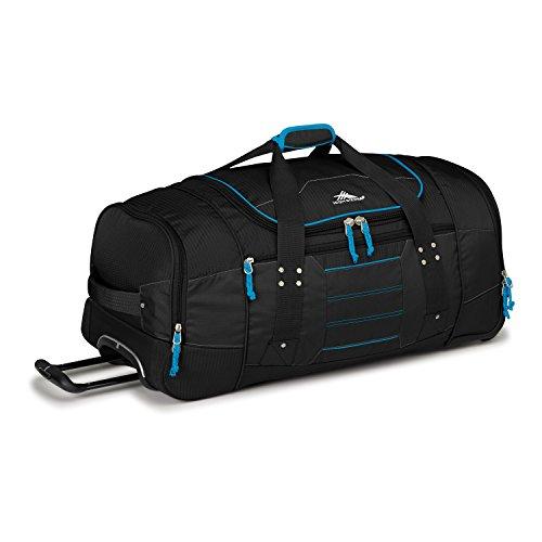 High Sierra Ultimate Access 2.0 Wheeled Duffel Bag, Black/Blue Print, 30-Inch