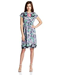 Rain and Rainbow Women's Cotton Dress (6004-15/67-17_LILAC_Large)