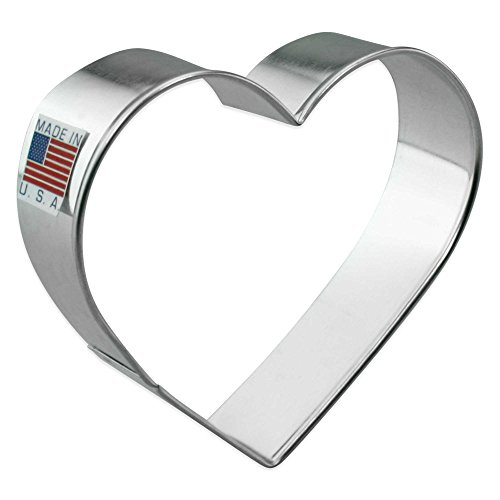 Ann Clark Heart Cookie Cutter | Made of Tin-Plated Steel | Measures 3
