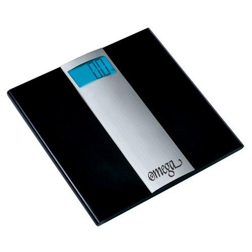 Omega Ultra Slim Digital Bathroom Scale, 400 lb. Capacity, Sense-On Technology