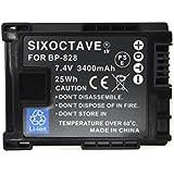 互換バッテリー Canon BP-828 残量表示可能 HF G20/XA10/XA20/XA25