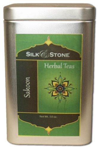 Silk & Stone Organic Sakoon (Tranquility) Tea (Herbal Tea In A Tin) 3.2Oz.