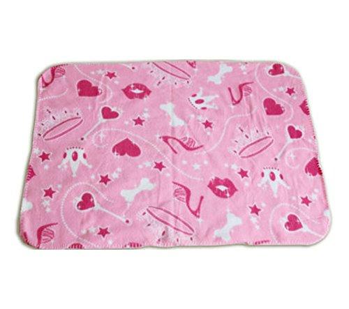 "35"" X 28"" Soft Fleece Pet Dog Cat Puppy Blanket (Pink) front-258846"