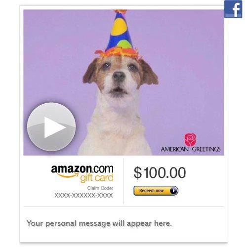 Amazon Gift Card – Facebook – Woofy Birthday (Animated)