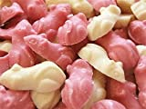 Hannahs Pink And White Chocolate Mice Retro Sweets - 200 Gram