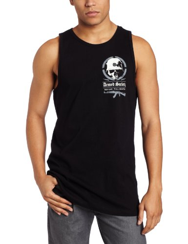 Metal Mulisha - Mens AS Enemy Tank Top in Black, Size: Large, Color: Black