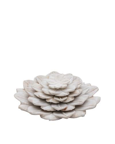 Set of 5 Lotus Flower Trays, Pearl White
