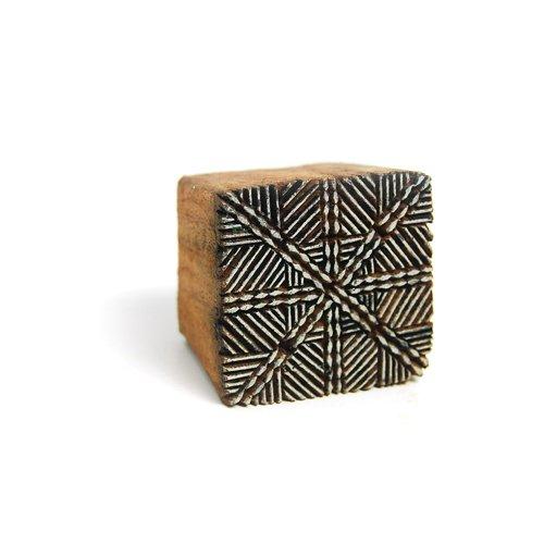 International Arrivals Blockwallah Wooden Stamp, Batik Pattern