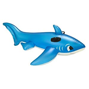 Inflatable Shark Swimming Pool Float Toy Toys Games