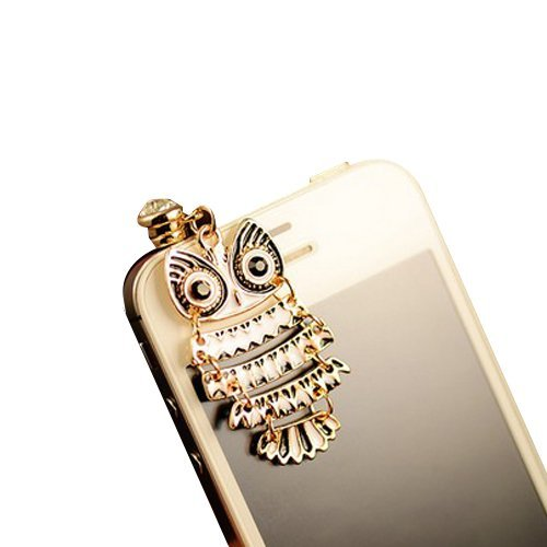 Mavis'S Diary Luxury Bling 3D Earphone Jack Accessory 3.5Mm Of Colorful Night Owl Pattern Dust Plug / Ear Jack For Iphone 3 3Gs 4 4S 5;Apple Ipad 1 2 3 4 Mini;Samsung Note 2 N7100;Samsung Galaxy S3 I9300, I8190, I8262D, S2 I9100, I9268, S5830, I9000;Samsu