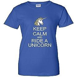 Keep Calm and Ride A Unicorn Women's T-Shirt