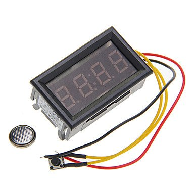 "Zcl Yb27T 0.4"" Red Led Electronic Clock (Dc 4.5~30V)"
