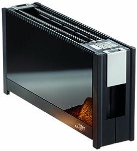 Ritter Toaster Volcano5 with Glass Panels, 950.0 Watt, Black