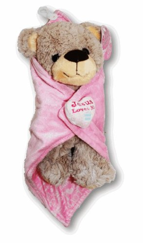 """Jesus Loves Me"" Plush Bear Prayer Buddy - 1"