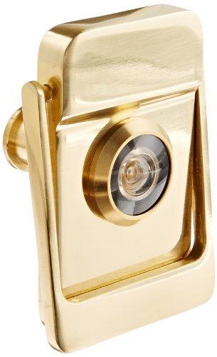 Rockwood 614v 3 brass door knocker with door viewer 2 1 8 width x 3 height polished clear - Door knockers with viewer ...